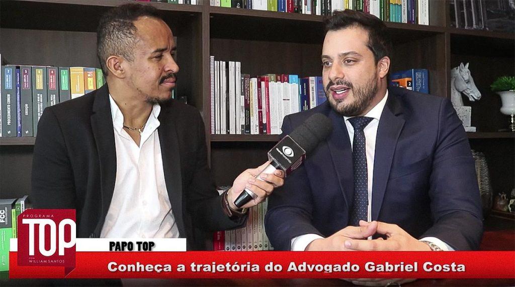 Wiiliam Santos bateu um papo descontraído com o Gabriel Costa